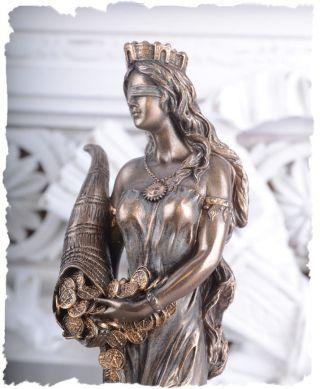 Fortuna Figur Griechische Glücksgöttin Frauenfigur Antike Bild