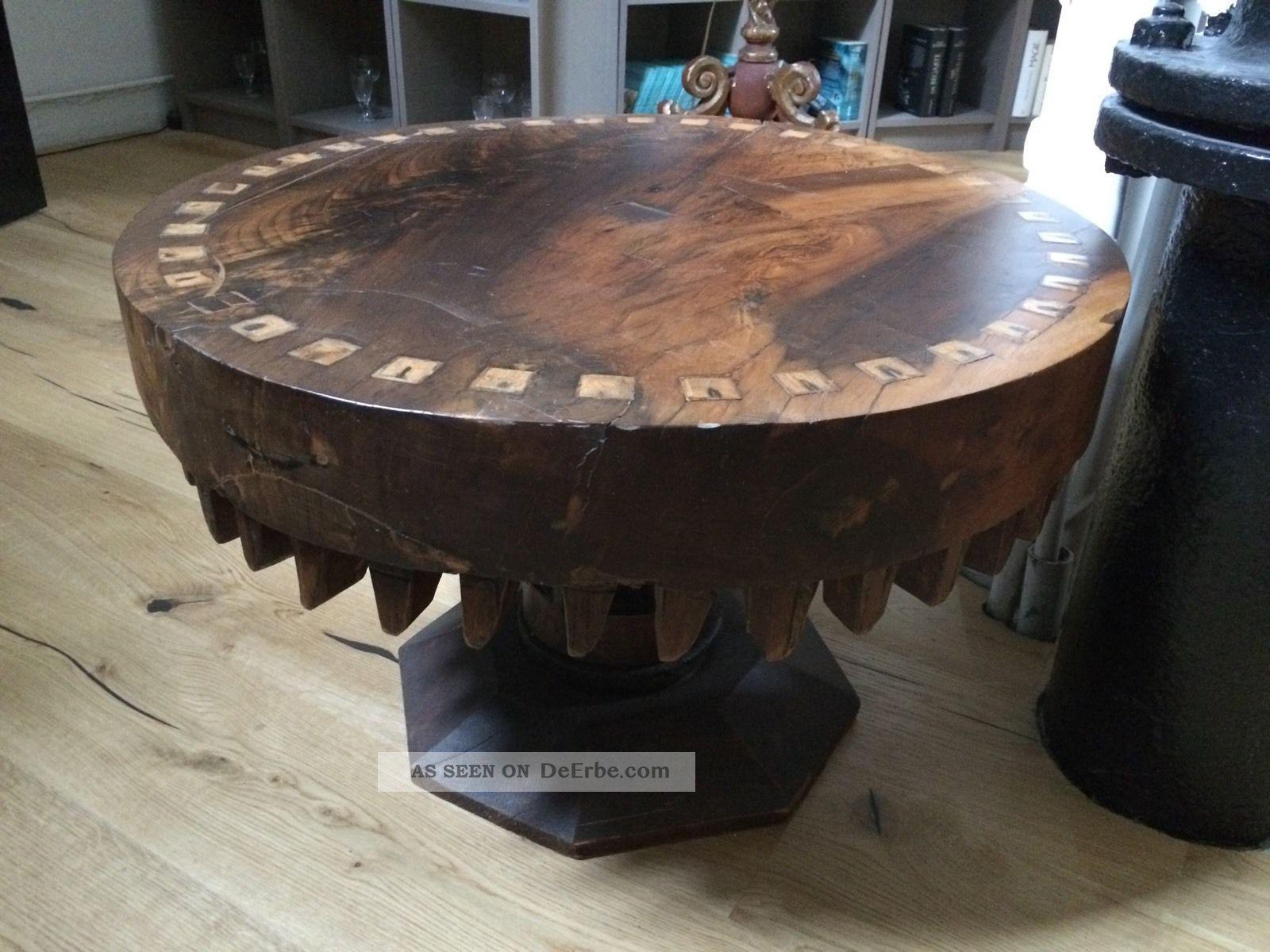 Konsol Tisch Antikes Zahnrad Beistelltisch Couchtisch