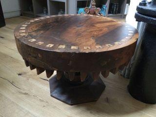 Konsol Tisch Antikes Zahnrad Beistelltisch Couchtisch Industrie Design Bild