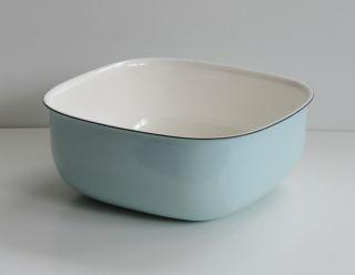 50er Jahre Emaille Schüssel Schale Zweifarbig Emailliert 19 Cm Enamel Bowl 50s Bild