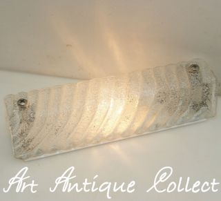 Design Wandlampe Thick Ice Glass 70er Wall Sconce Space Age 70s Vintage Bild
