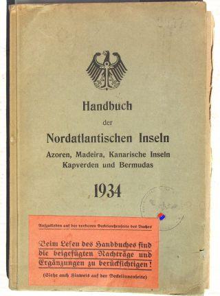 Wehrmacht Buch 1943 Handbuch Nordatlantische Inseln Kriegsmarine Funkgerät Waa Bild