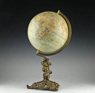 Seltener Globus Rare Globe Felkl C.  1885 Mappemonde Rare Globe Globo Terraqueo Bild