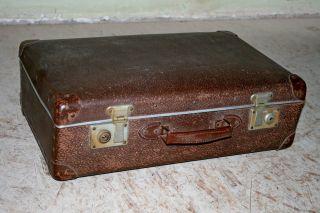 Vintage Reisekoffer Hartschale Koffer 55x33x17cm Schaufenster Oldtimer Deko Bild