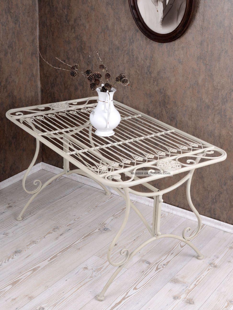 couchtisch gartentisch weiss metalltisch garten tisch. Black Bedroom Furniture Sets. Home Design Ideas
