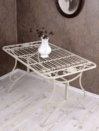 Couchtisch Gartentisch Weiss Metalltisch Garten Tisch Shabby Chic Bild