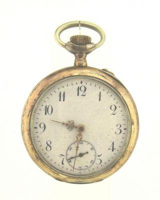 Offene Silber Taschenuhr 800 Gesamt Ca.  77,  0 G Dürrstein,  Teilvergoldet Bild