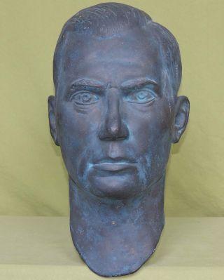 Schwerer Kopf Aus Messing - Bronze Aus Früher Ddr - 45 Cm Bild