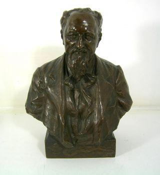 Schöne Büste V.  R.  Kauffungen 1901,  Statue Herrmann Von Widerhofer,  Signiert,  Bronze Bild