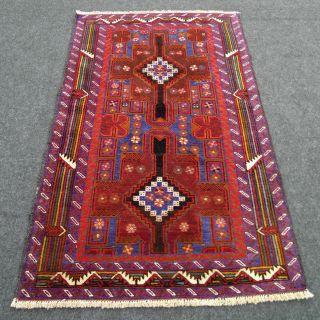 Feiner Orient Teppich Afghan 142 X 87 Cm Belutsch Perserteppich Carpet Rug Tapis Bild