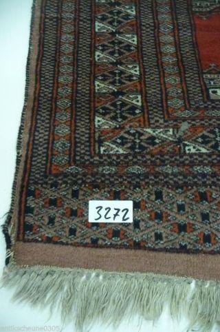 3272.  Schöner Alter Teppich Läufer Handarbeit Bild
