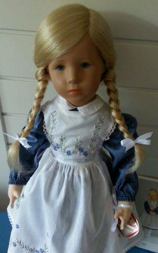 Käthe Kruse Klassische Puppe Vlll Agleia 52 Hoch 1993 Vitrienenstück Mit Etikett Bild