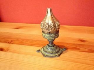Kerzenhalter Bronze Indien Kerzenständer In Form Einer Lotusblüte Bild