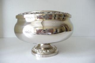 Große Rosenschale - Steckschale,  Vase Versilbert Bild