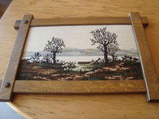 Bild Gobelin Stickbild,  Handarbeit,  Ca.  38 X 22 Cm Bild