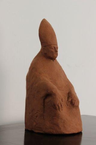 Skulptur Terrakotta Giacomo Manzu ' Signiert Und In Bild