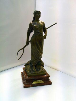 Edouard Moissonneuse Expon Des Beaux Arts Bronze Garanti Au Titre Paris E Drouot Bild