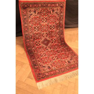 Schöner Handgeknüpfter Blumen Teppich Herati Nain Kum Carpet Tappeto 90x160cm Bild