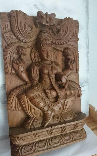 Buddismus,  Gott Shiva Handgeschnitzt Aus Holz Bild