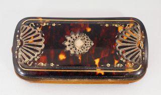 Biedermeier Notiz & Visitenkarten Behälter Silber Intarsien / Zum Restaurierung Bild