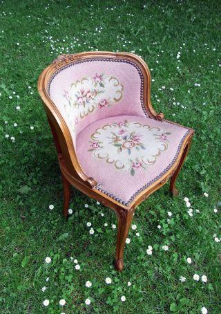 Wunderschöner Stuhl Sessel Antik Um Ca.  1900 Gründerzeit Schreibtischstuhl Sitz Bild