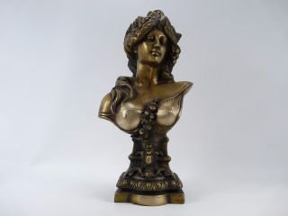 Antike Schwere Große Jugendstil Frauen Bronze Figur.  12 Kg Bild