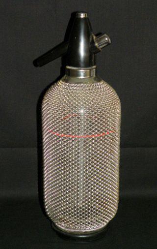 Soda Flasche - Syphon / Siphon - Im Drahtnetzmantel - 70er Panton Ära (2) Bild