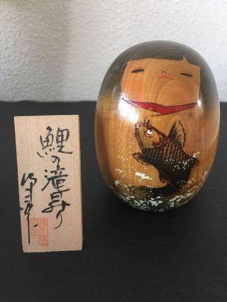 Kokeshi Puppen Japan Holzpuppe Japanpuppe Holzfigur Geisha Wood Doll 1 Bild