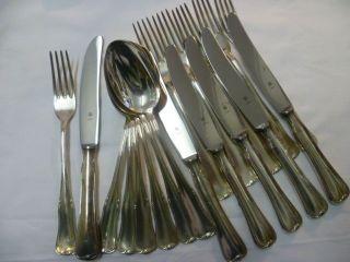 Wmf Ilox Besteck 6 Pers Messer Gabel Löffel 18t 90er Silber Versilbert Erbstücke Bild