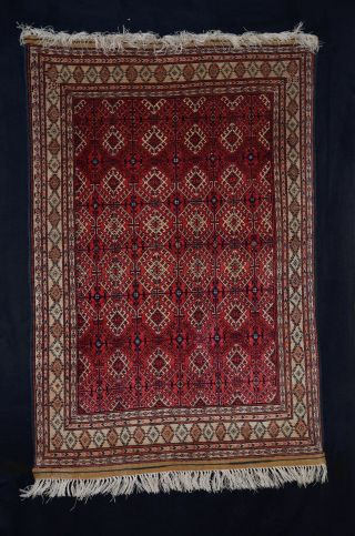 Alter Orientteppich Seiden Mauri Afghan 175x116 Silk Rug Tappeto Tapis Bild