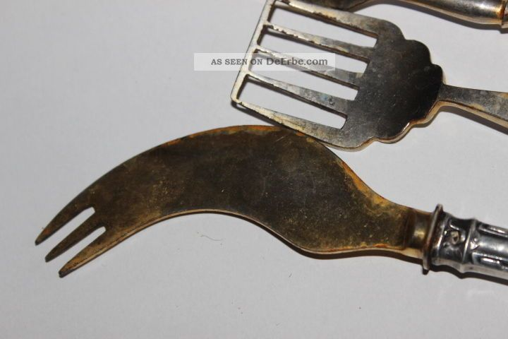 3 tlg silber besteck sardinenheber buttermesser for Wanddeko besteck silber