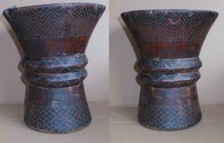 Inka Qiru,  Quero Altes Holz Trink Gefäß Ca.  1400 - 1500 N.  Chr. Bild