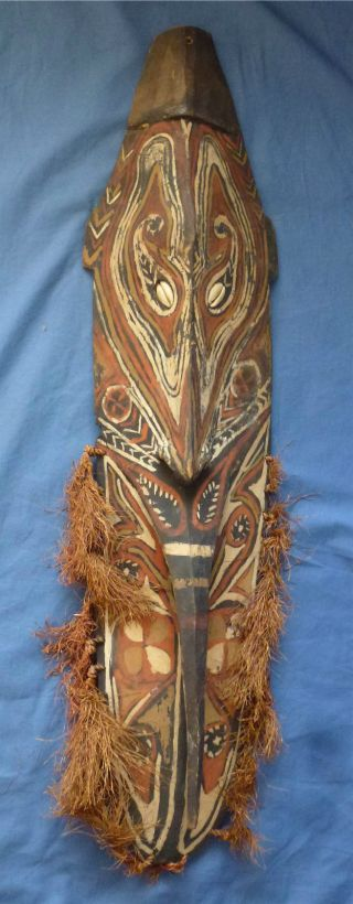 Maske Papua Neuguinea Ahnenfigur Middle East Sepik Province Tumbuan Sawi Mwai Bild