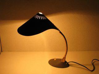 Schreibtischlampe Schwanenhals Schrumpflack Anthrazit Bild