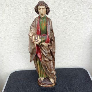 Johannes Der Täufer - Holzfigur Nach Tilman Riemenschneider Bild