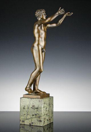 Betender Knabe Jüngling Bronze Lauchhammer Um 1920 Boidas Antike Adorant Bild