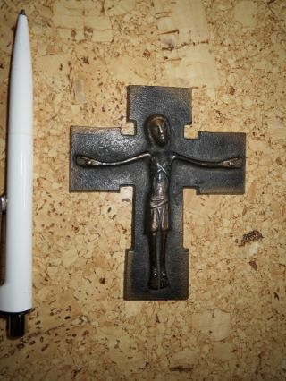 Jesuskreuz Kruzifix Metallkreuz Bild