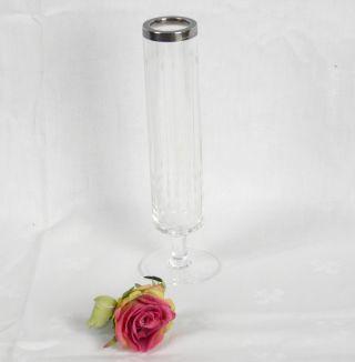 Wtb Wilhelm Binder Vase Geschliffenes Kristall Silbermontur Silber 925,  22,  5 Cm Bild