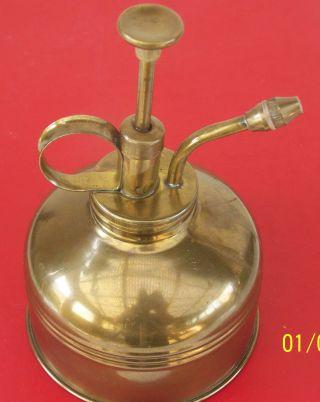 Antike Alte Pump - Öl - Kanne Aus Messing Vor 1945 Vietrinenobjekt Bild