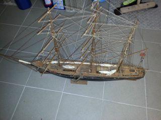 Altes Segelschiff Schiff Fregatte Holz Cuty Sark Handarbeit Gebaut Bild