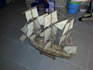 Altes Segelschiff Schiff Fregatte H.  M.  S.  Bounty Holz Handarbeit Gebaut Bild