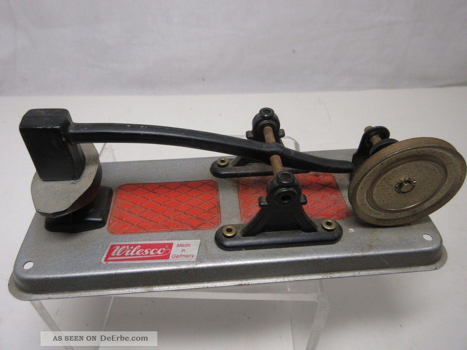 Wilesco Dampfmaschine Zubehör Antriebsmodell M 60 Bügelsäge Gefertigt nach 1945 Bild