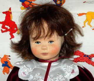 Sehr Hübsches Puppenmädchen - Hochwertige Puppe Aus Stoff - Echte Haare Bild