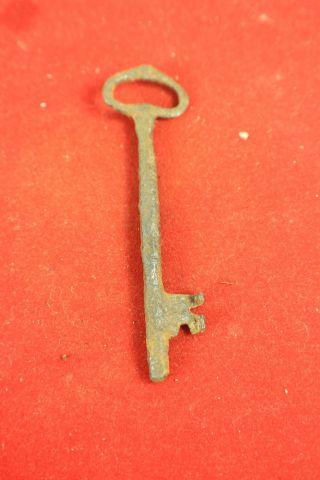 Antiker Alter Schlüssel Für Antike Türen Schloss Um 1700 Handgeschmiedet Bild
