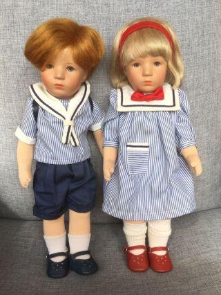 2 Käthe Kruse Puppen Brüderchen Und Schwesterchen Bild