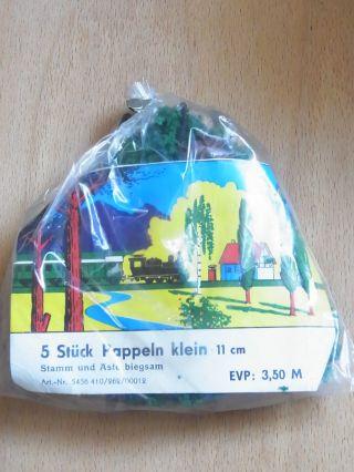 Vero Ddr 5 Stück Pappeln Klein 11 Cm - Unbenutzt - In Ovp Bild