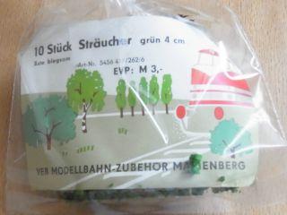 Veb Marienberg Ddr 10 Stück Sträucher 4 Cm - Unbenutzt - In Ovp - Biegsam Bild