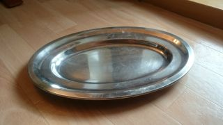 Antike Wellner Servierplatte Mit Punze 32 X 22 Cm Silber Hotelsilber Rar Bild