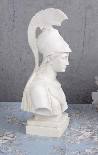 Alabaster Büste Athena Kopf Göttin Minerva Antike Kriegerin Exclusiv Bild