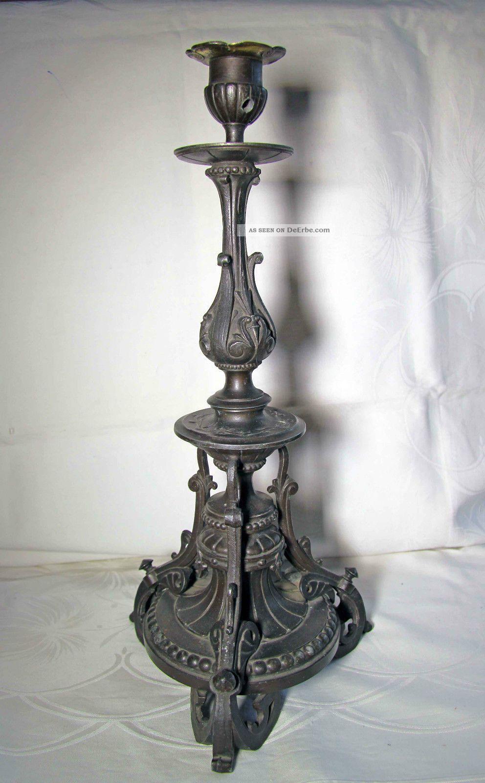 Wunderschöner,  Geschmiedeter Kerzenständer Antike Bild